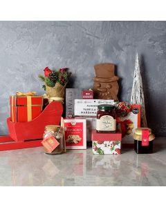 Sweet Christmas Sleigh Gift Basket