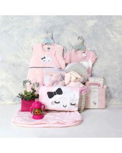 BABY GIRL'S SWEET DREAMS SET, baby girl gift hamper, newborns, new parents