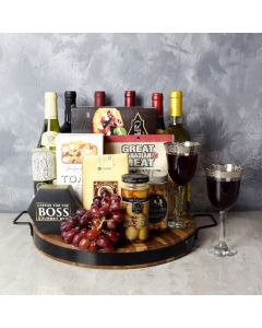 Beaconsfield Deluxe Wine Crate, gift baskets, gourmet gift baskets, wine gift baskets, wine & cheese gift baskets