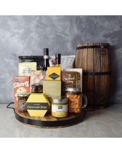 Hillcrest Wine Basket, gift baskets, wine gift baskets, gourmet gift baskets, wine & cheese gift baskets