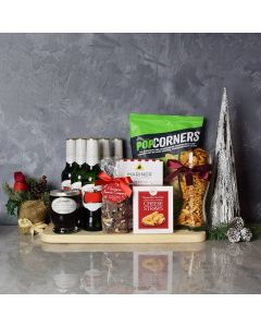 Holiday Beer & Snacks Gift Basket