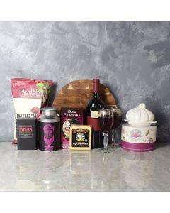 Wine, Chocolate, and Cheese Basket