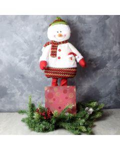 Snowman & Gourmet Chocolates Gift Set, gourmet gift baskets, gourmet gifts, gifts