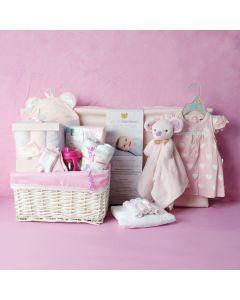 DELUXE BABY GIRL CHANGING SET, baby girl gift hamper, newborns, new parents