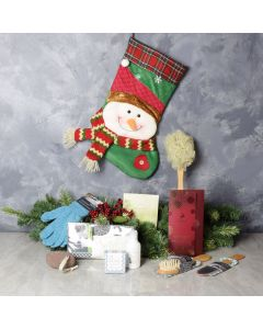 Snowman Spa Stocking Gift Set, spa gift baskets, gourmet gifts, gifts