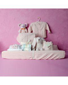 BABY GIRL COMFORT SET, baby girl gift hamper, newborns, new parents