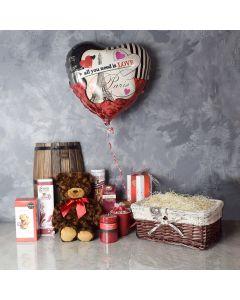 Durham Treats Basket, gourmet gift baskets, Valentine's Day gifts, gift baskets, romance