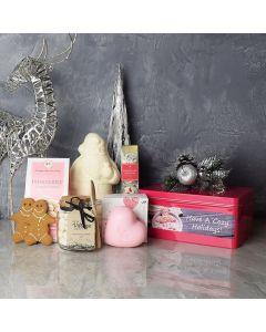 White Christmas Gift Basket