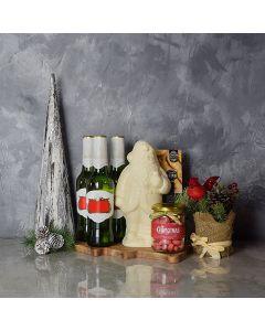 A Beer with Santa Gift Basket