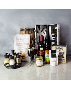 The Grillmaster Wine Snack Set, gift baskets, wine gift baskets, gourmet gift baskets, gift baskets