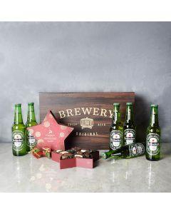Holiday Beer & Chocolates Set, beer gift baskets, Christmas gift baskets, gourmet gift baskets