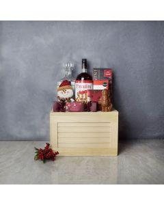 Sweet Treats & Liquor Gift Set, liquor gift baskets, Christmas gift baskets, gourmet gift baskets