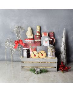 Birch & Bubbly Holiday Gift Crate, champagne gift baskets, gourmet gifts, gifts