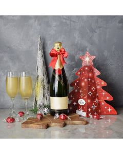 Holiday Champagne & Chocolate Gift Basket