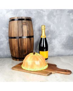 The Great Pumpkin Cake & Champagne Gift Set