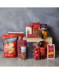 Carleton Liquor & Snack Crate, liquor gift crates, gourmet gift crates, gift crates