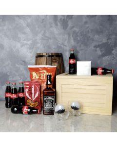 Coke & Snacks Liquor Gift Crate, liquor gift baskets, gourmet gift baskets, gift baskets, gourmet gifts
