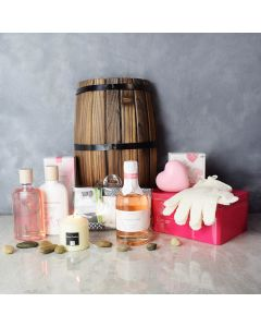 Kissed by a Rose Spa Gift Set, spa gift baskets, spa gifts, gift baskets, spa sets