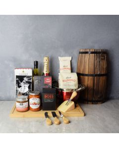 Tastes of Italy & Champagne Gift Set, champagne gift baskets, gourmet gifts, gifts