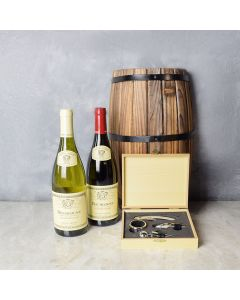 Elegant Wooden Wine Gift Set, wine gift baskets, gourmet gift baskets, gift baskets, gourmet gifts