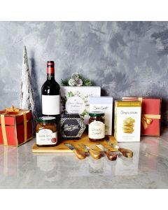 Holiday Wine & Cheese Pairing Gift Basket