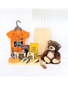 LITTLE FOOTSTEPS GIFT SET, baby gift basket, welcome home baby gifts, new parent gifts