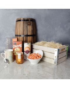 Snacks for Teatime Gift Crate, gourmet gift baskets, gift baskets, gourmet gifts