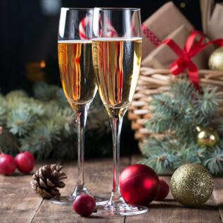 Champagne gift baskets Donna Lee Gardens
